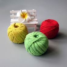 colorful round braided cotton rope for DIY/ craft /decoration