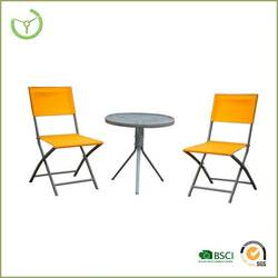 Outdoor leisure patio chairs and table/coffee shop used/cafe furniture