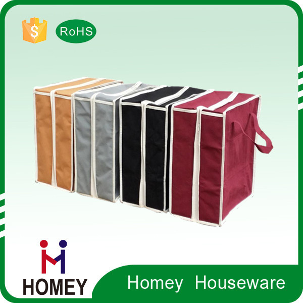 Factory Direct Sale Best Quality Factory Wholesale Foldable Canvas Storage Box With Zipper