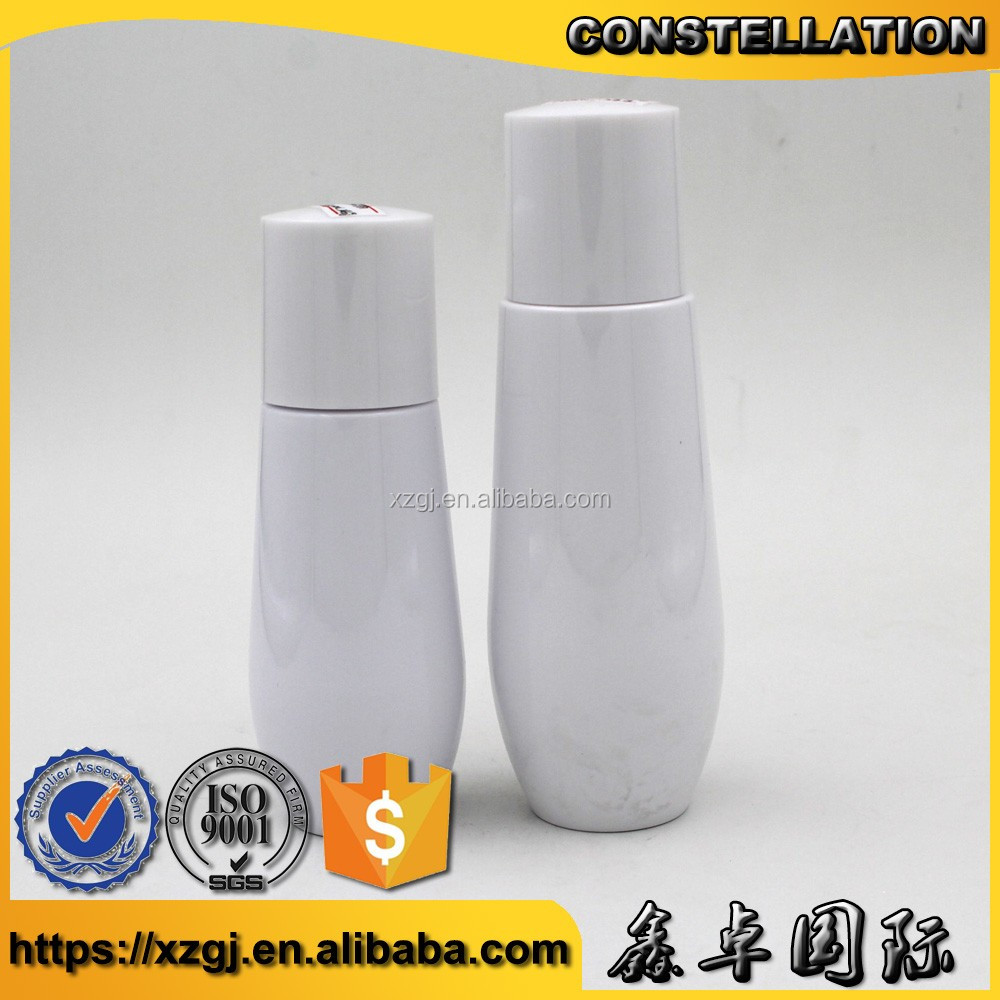 2017 new cylinder white bottle 60ml,80ml Good quality and reasonable price best seller for cosmetic plastic Combination bottle