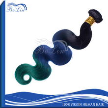 8A Top Quality Double Weft Brazilian/European/Indian 100% Remy Human Hair Extension Tangle Free Wholesale 1B/Blue/Green