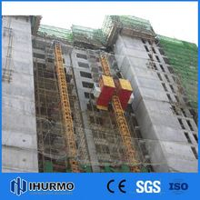 Popular gjj type sc270/270gz construction hoist/ double cage construction elevator/2.7t construction lifter