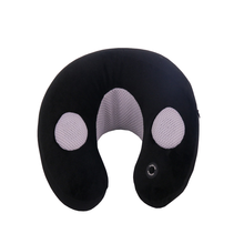 Custom Newly Car Travel Massage Pillow U Shape Round Neck Headrest Music Memory Foam Airplane Microbead Neck Pillow Travel