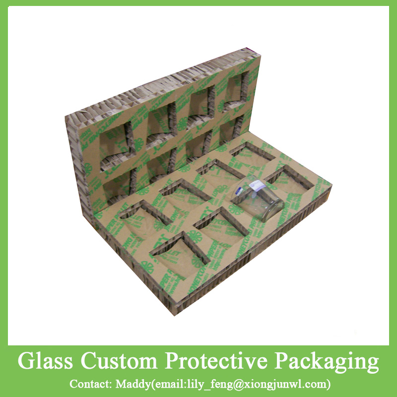Custom Size Small Glass Beer Bottle Honeycomb Paper Cardboard Packaging Box Cushion