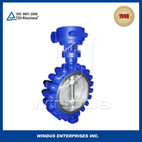 China high performes double eccentric butterfly valve