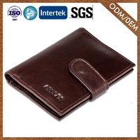 High-End New Pattern Casual Excellent Quality Men'S Leather Wallet Brown