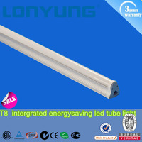 2016 LonYung dimmable option high lumens output 4ft t8 led tube fluorescent light 50000 hrs long life span 15w-38w 2ft-6ft