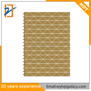2018 A6 Custom Printed Paper Cover Spiral Ruled Blank Dot Grid Notebook For Promotion