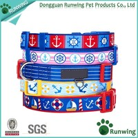 Nylon Webbing Dog Collars with Unique D Ring