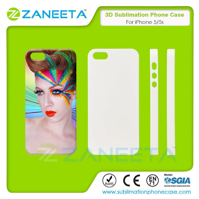 Hot Sale Custom 3D sublimation Phone Case For iPhone 5/5S | Fashion Design 3D Sublimation Blank Cover For iPhone 5/5S