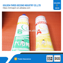 Two component based epoxy steel super glue for table tennis, acrylic solid surface adhesive