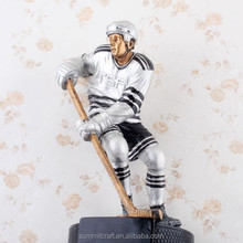 Custom resin 3D hockey player figurine