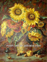 Wall Oil Painting Sunflowers on Canvas Designs for Living Room