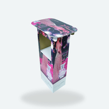 Retail Use Round Display Table for Cosmetic, Desktop Acrylic Display Stand