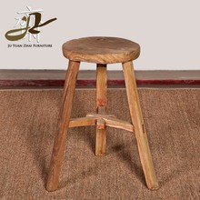 wholesale hotselling old wooden round stool