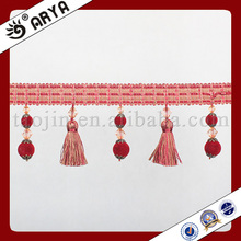 leather tassel trim for curtain and home textile