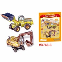 Wheelloader and Excavator 3d jigsaw puzzle education toy