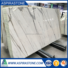 Italian calacatta white marble tile with grey veins
