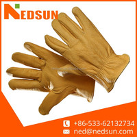 Regular cow leather truck drivers driving gloves