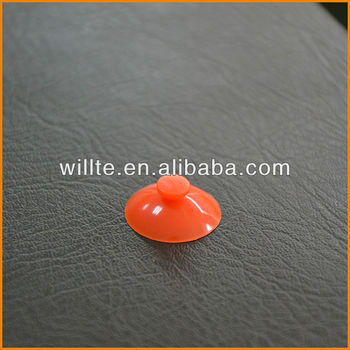 Mini Mushroom Head Orange Suction Cup-M1-20mm