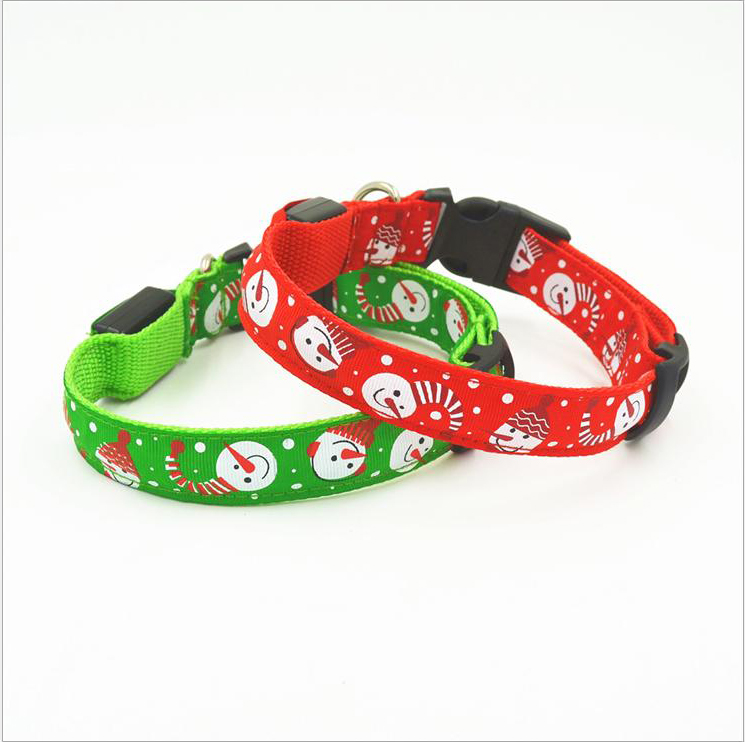 Colorful Florescent Light Christmas Festival Dog Pet Puppy Cat Collars