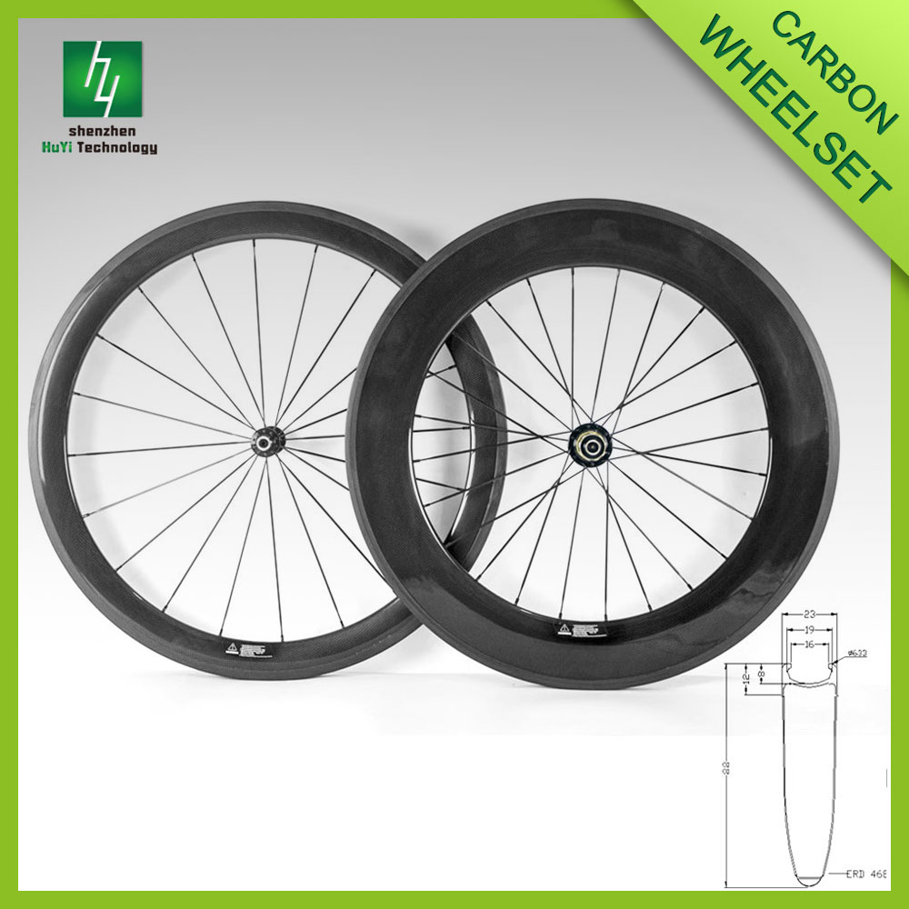 700c carbon road wheels 88mm depth bicycle rim wheels for for Bicycle rims