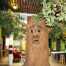 Animatronic Talking Tree Speaking Tree With Movements High Quality Christmas Decorations For Shopping Mall