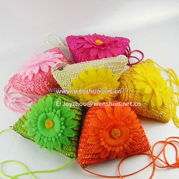 Cheap Straw Bag Cute Little Flowers 2013 Beach Bag
