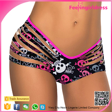 Factory Price New Arrival Colorful Printing Sexy Lady Satin G String