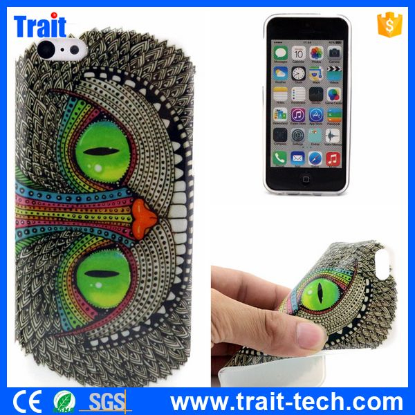 Factory Sale Cheap Price Fashion Bordure Ultra-thin Soft TPU Back Case for iPhone 5C