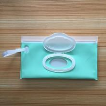 Eco-friendly EVA refillable wet wipes pouch with cover