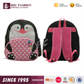 HEC Most Popular Cute Penguin Shaped Nylon Fabric Child Girls Backpack Shool bag
