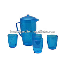 bule bottle 5pcs wholesale plastic cups drinking cups