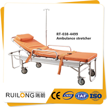 Latest ambulance metal folding loading medical stretcher sizes
