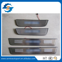 Hot sale stainless steel material auto ix35 led door sill scuff plate