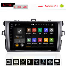 C700 android 7.1 2gb ram car radio stereo for toyota corolla e12 2010 head unit built in gps navigation DVD VCD CD player bt dab