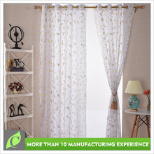 Window curtains design Creative style Polyester bronzing office window curtain