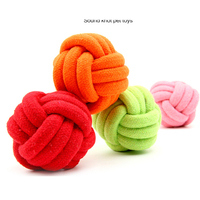 Candy color cotton rope woven ball dog ball toy