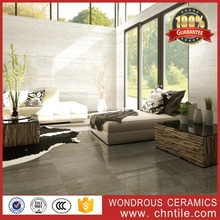 China 60x60 vitrified porcelain black floor tiles with stone design