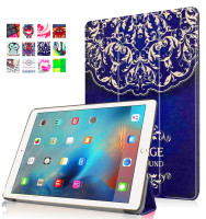 360 Degree Rotating Stand Slim-Fit Case For Ipad Pro 9.7 Leather Folio Shockproof Cover