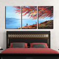New Designs Easy Hand Painted Sea Landscape Oil Painting on Canvas