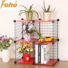 Folding Portable Wall Mounted Metal Sheet Bookstore Shelves for Living Room