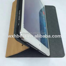 Innovation Products Full Wood Bamboo Case Stand Leather Wood Cover Case With Blank Design for iPad Air 1