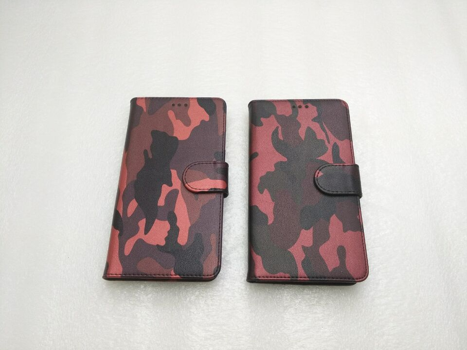 Best selling style for slim luxury camouflage design leather wallet case for Alcatel Stellar