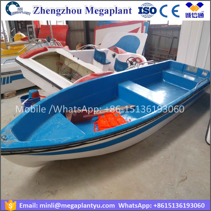 CE approved FRP wholesale canoes /small fiberglass rowing boat for sale