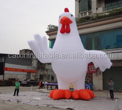 2016 custom made inflatable chicken mascot/ advertising inflatable chicken/ inflatable advertising chicken