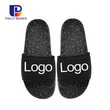 Wholesale 2018 Fashion Flat Waterproof PVC Plastic Slippers Shoes Fancy Summer Man Slide Sandals
