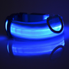 Adjustable USB Charging Pet Dog Collar Rechargeable LED Tube Flashing Night Dog Collars Glowing Luminous Safety