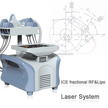 2016 hot selling fat burning machine Lipo laser and fractional Rf machine Slim9