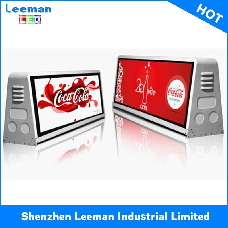 top vision waterproof stable taxi roof led display hot sale promotional video displaying led sign
